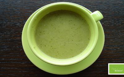 Courgettesoep met dille en zalm (2 personen)