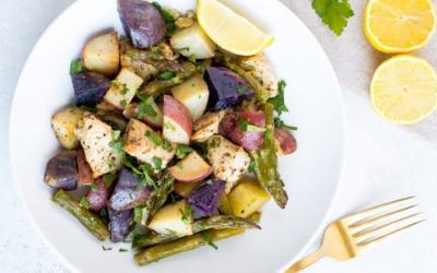 Citroen-knoflook kip met groenten